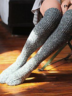 free people high socks | Free People Cozy Sweater Tall Sock in knee-high-socks | just for looks
