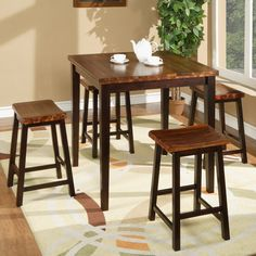 Fifth Ave Counter Height Dining Table & Stools Winners Only