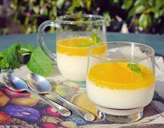 Pannacotta au lait d'amandes, fleur d'oranger et  gelée d'agrumes. Publié par Un deux trois veggie. Retrouvez toutes ses recettes sur youmiam.com.