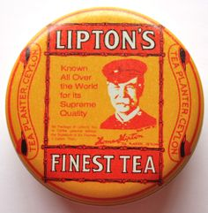 Vintage Lipton Tea Tin Can