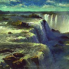 2012 Iguazu #rhads #iguazu #waterfall #goodbye #digital_art #art #digital #sky #cloud #clouds #painting #drawing #color #photoshop rhads.deviantart.com