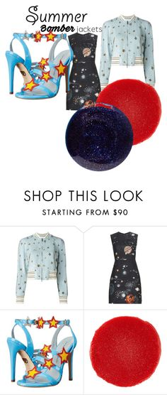 """""""summer under the stars"""" by alisafranklin on Polyvore featuring Valentino, Chiara Ferragni, Christian Louboutin, Lauren B. Beauty and bomberjackets"""