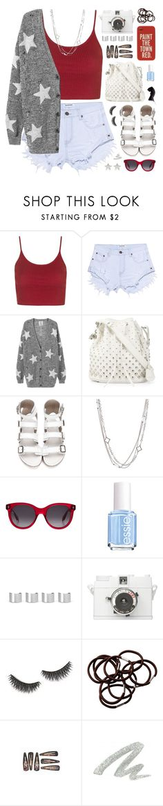 """""""Fourth of July- Fall Out Boy"""" by charcharr ❤ liked on Polyvore featuring Topshop, OneTeaspoon, Alexander McQueen, David Yurman, Essie, Maison Margiela, Kate Spade, shu uemura, H&M and Urban Decay"""