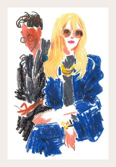 Who: Rachel Zoe Where: Chloé at the Jardin des Tuileries Mood: Posing without appearing to be posing Look: Seventies Californian glam By Damien Florébert Cuypers Inspiration Art, Art Inspo, Art Sketches, Art Drawings, Bel Art, Art Du Croquis, Oil Pastel Art, Arte Sketchbook, Art Et Illustration