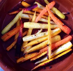 Spicy roasted carrot salad