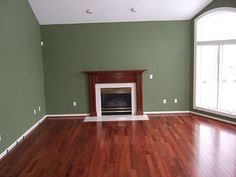 """walls are benjamin moore """"dry sage"""" - this is a gorgeous color"""