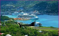 Looking Right Across Port Castries – St. Lucia (Caribbean Island)