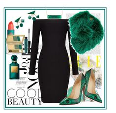 """""""Cocktail Party"""" by stars-5 ❤ liked on Polyvore featuring Christian Louboutin, Blue Nile, BCBGMAXAZRIA, Mr & Mrs Italy, Lipstick Queen, Estée Lauder, MAC Cosmetics and Tom Ford"""