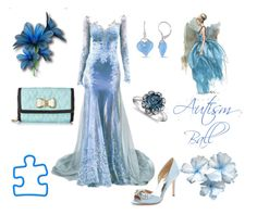"""""""Autism Ball~April 2nd"""" by coolmommy44 ❤ liked on Polyvore featuring Miadora, Badgley Mischka, Betsey Johnson, Blue Nile, autismawareness, LIGHTITUPBLUE, autismspeaks and autismball2015"""