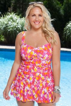 25 Plus Size Swimdresses Perfect for Summer on The Curvy Fashionista: Paradiso Plus Size Swimdress