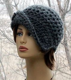 Check out this item in my Etsy shop https://www.etsy.com/listing/582553895/womens-crochet-hat-asymmetrical-brim