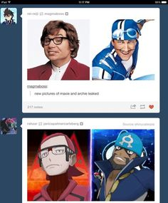 Austin Powers is head of Team Magma and Sporticus is head of Team Aqua