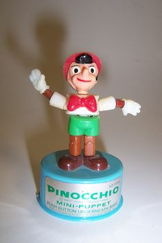 *PINOCCHIO ~ Mini-Push Puppet by nudan92, via Flickr Pinocchio, Elf On The Shelf, Puppets, Christmas Ornaments, Holiday Decor, Mini, Christmas Jewelry, Christmas Decorations, Doll