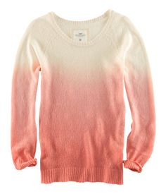 ◊ Fine-knit sweater in a linen blend with dip-dye effect. $29.95   H US