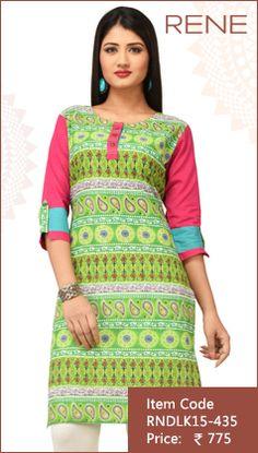 #Green #Cotton #Kurti #Fashion #Apparels #Clothing #EthnicWear #Style #Women