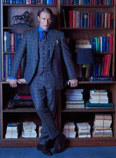 Mads Mikkelsen as Dr. Hannibal Lecter  #Hannibal premieres Thursday, April 4 on NBC