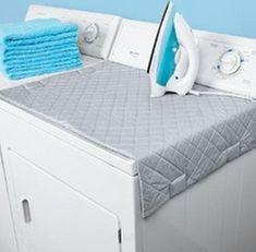 Dica de organização para a lavanderia – Otimização de espaços – Manta térmica para passar roupas