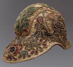16th century Spanish Straw and velvet helmet