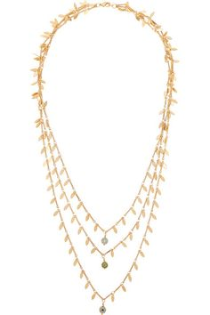 IAM by Ileana Makri | Eye Leaf gold-plated cubic zirconia necklace | NET-A-PORTER.COM