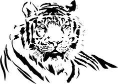 Tiger Laid Down Jungle Animals Wall Stickers Wall Art Decals Transfers | eBay