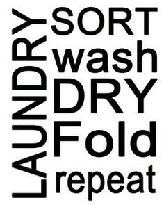 laundry - words for sign in laundry room