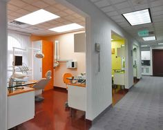 Cool Dentist Office. I love the bright colors!