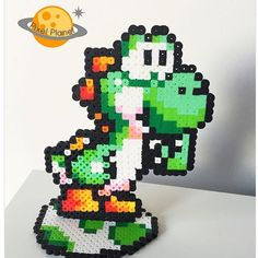 Yoshi perler beads by  pixel_planet_