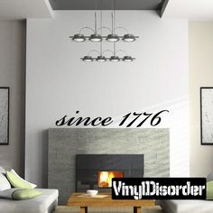 American since 1776 Wall Decal - Vinyl Decal - Car Decal - Wall Quote - Mv007