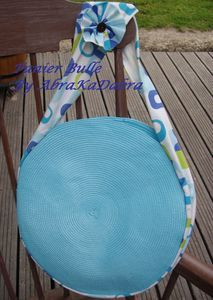 tuto couture: faire un sac en recupérant des sets de table ronds