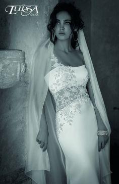 luisa sposa raso di seta pura e inimitabile ricamo a mano