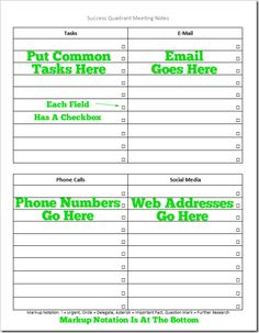 Meeting Note Taking Template Free Printablebookmarktemplates  Books & Bookmarks Having To Do .