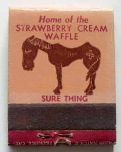 What's the purpose of the Illustration of the starving horse if you're promoting a high fat breakfast item?