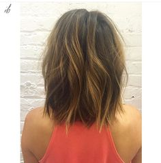 Color by #erinibdc | Cut by #marisaindc | Lob hair painting balayage |