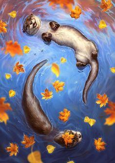Colour Splash, an art print by Johanna Tarkela - INPRNT Cute Animal Drawings, Animal Sketches, Cute Drawings, Desenhos Love, Animal Wallpaper, Animal Paintings, Cute Art, Art Inspo, Amazing Art