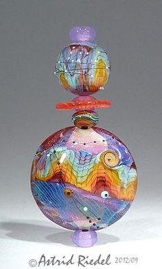 Rainbow Magic  Lampwork set  Astrid Riedel by AstridRiedel on Etsy, $120.00
