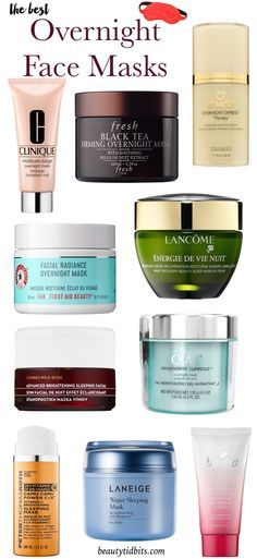 The best overnight face masks that will make your skin glow by morning! Now that's what we call beauty sleep!