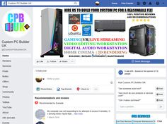 New Custom Built Desktop Gaming Computers Custom Computers, Computers For Sale, Gaming Desktop, Desktop Computers, Digital Audio Workstation, Computer Service, Custom Pc, Find Friends, Uk Homes