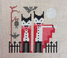 This listing is for two SpookyFriends cross stitch designs! You will receive two pdf files for instant download, one for the Fangtastic