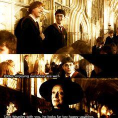 HAHAHA i laugh so hard at his part  Harry Potter and the Half Blood Prince