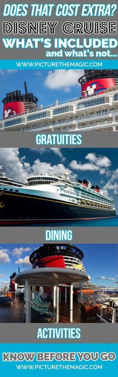 What's included in price of Disney Cruise? #disneycruise