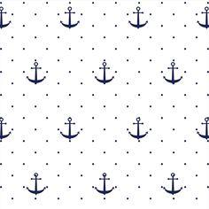 Ancoras Brancas | Elo7                                                                                                                                                                                 Mais M Wallpaper, Flower Background Wallpaper, Background Patterns, Pattern Wallpaper, Fabric Patterns, Print Patterns, Nautical Wallpaper, Conversational Prints, Stencil Templates
