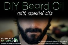 DIY beard oil with essential oils. Earthy Blend. Woodsy Blend. Smoothing and Strengthening Blend. Sweetly Minty Blend. Make your beard shiny and healthy.
