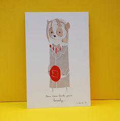 Card Slow Loris thinks you're lovely by ancasandu on Etsy. $4.50 USD, via Etsy.