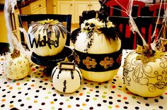 Halloween Decor for Totally Inspired Tuesday by Savannah, white pumpkin decorations