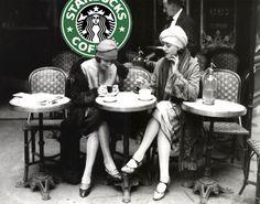 Two Girls at Starbucks
