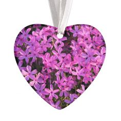 Pretty Purple Flowers Holiday Christmas Ornament ~ for your tree, rear-view mirror, home window, wherever!