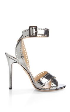 Shop Take 110 Metallic-Leather Sandals by Charlotte Olympia Now Available on Moda Operandi