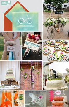 WEDDING INVITATIONS AND IDEAS TO CELEBRATE THE WEDDING INSPIRED BICYCLES