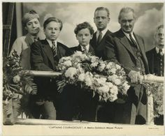 Mickey Rooney, Freddie Bartholomew and Lionel Barrymore. Still photo pictures Mickey Rooney, Freddie Bartholomew and Lionel Barrymore in Captains Courageous