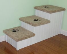 Approx. 18 H x 18 W x 33 Deep. Each step is approx. 6 H x 18 W x 11 D Extra wide, extra deep steps. Perfect for large dogs up to 120 pounds.